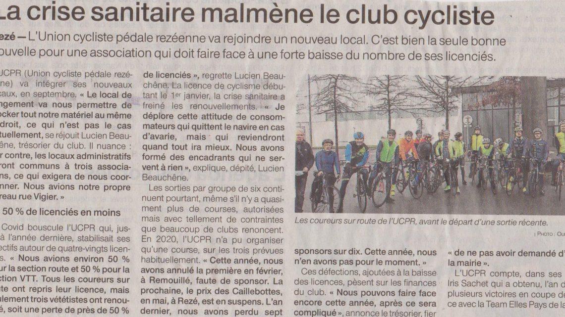 Article OUEST FRANCE du Lundi 22 Février 2021